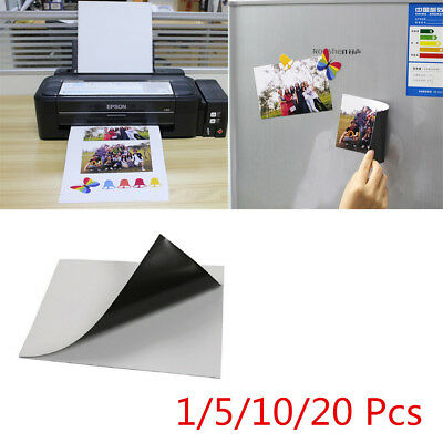 1~20 A4 Magnetic Magnet Sheets Self Adhesive Thickness Crafts Material PQ