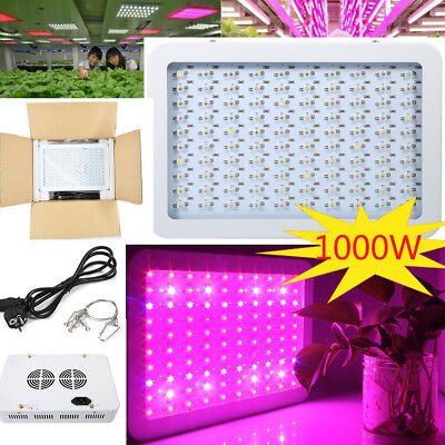 1000W !!! Full Spectrum LED Plant Grow Light Bloom Lamp Indoor Greenhouse Garden
