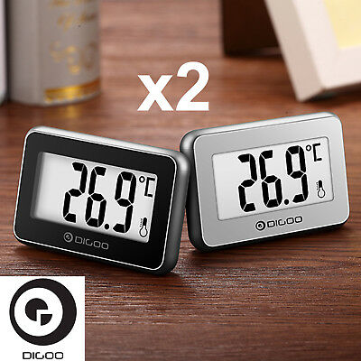 x2 Digoo Mini Home Digital Indoor Thermometer Sensor Temperature Weather Station