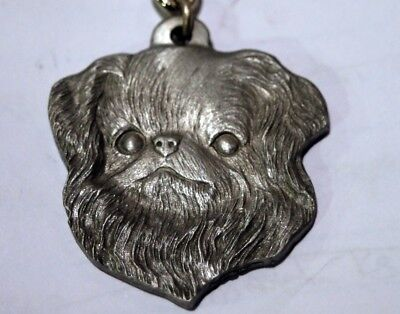 Rawcliff pewter dog keychain, I love my Japanese Chin