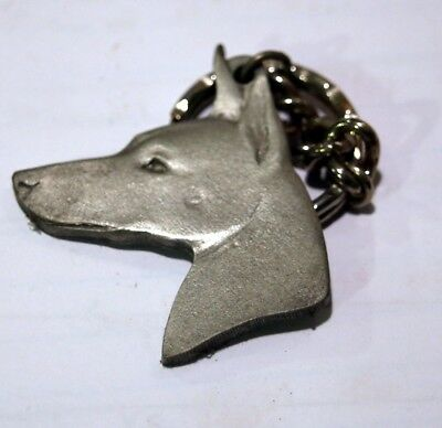 Rawcliff pewter dog keychain, I love my Manchester terrier