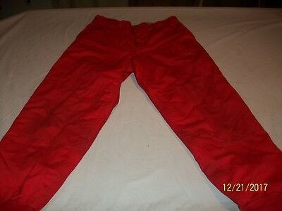 Vintage Ted williams Sears Red Quilted Lined Hunting Pants 32x30 Made In U.S.A.