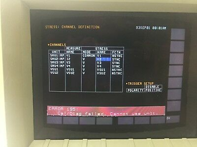 Agilent HP 4155A Semiconductor Parameter Analyzer & 16442A Agilent Test Fixture.