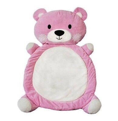 Living Textiles Play Mat - Pink Teddy - 95 x 64cm (great for Tummy Time)