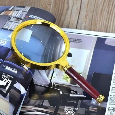 10X Handheld Magnifier Reading Magnifying Glass Lens Jewelry Loupe