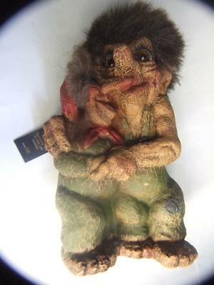 Vintage Toy Norwegian Trolls of a Couple- AS Ny Form  Norway Retro1970's