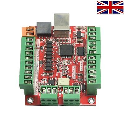 MACH3 100Khz 4Axis Breakout Board Driver Motion Controller 0-10V Spindle UK Ship