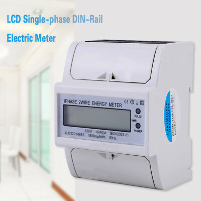 Hot Digital LCD Single-phase DIN-Rail Electric Meter 10-40A Electronic KWh Meter