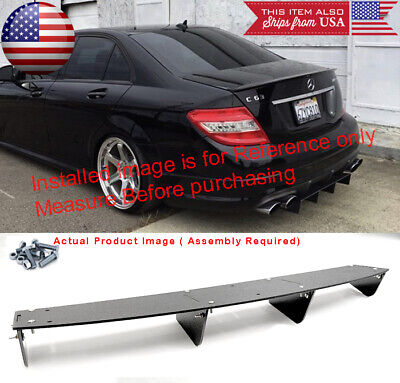"34"" x 6.25"" Shark Fin ABS Splitter Rear Bumper Diffuser Fin Canards For  Chevy"