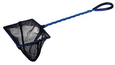 Black Net Aquarium Fish Tank Bowl Biorb Catch Black Blue Handle 12 x 10cm