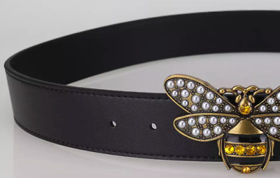 Hot Sell Women's Leather Belt With Bee Buckle