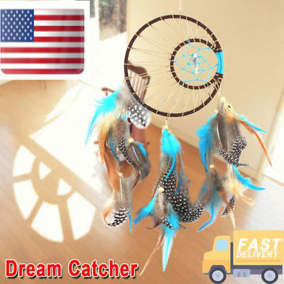 "Handmade Dream Catcher w/Feather Wall Hanging Decoration Ornament 15.7"" Decor NJ"