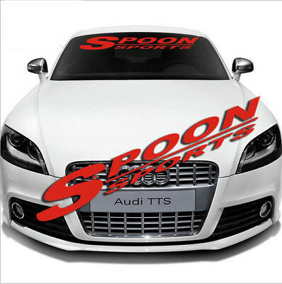 Car Front Lucency Windshield Banner Reflective Decal Sticker for SPOON SPORTS