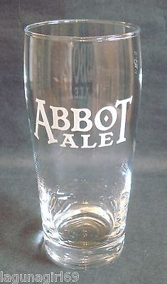 Abbot Ale Greene King Beer Pint Glass Pub Home Bar Used