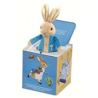 Peter Rabbit Jack in the Box Pop-Up Soft Plush Toy for Kids Toddler Music Box