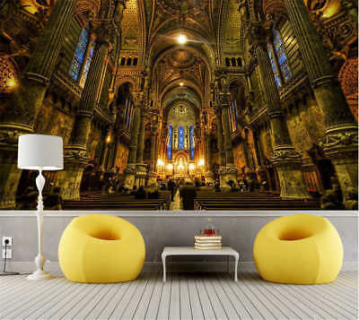 Solemn Rorty Church 3D Full Wall Mural Photo Wallpaper Printing Home Kids Decor