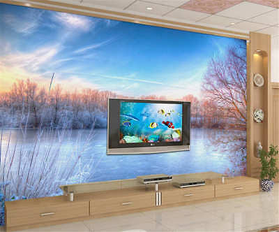 Solemn Concise Lake 3D Full Wall Mural Photo Wallpaper Printing Home Kids Decor