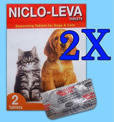 2pcs (4 Tablets) Animal Deworming Tablets for Dog Cat Puppy Health