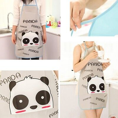 Panda Pattern Modish Waterproof Kitchen Restaurant Women Cooking Bib Apron
