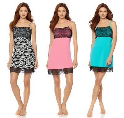 Rhonda Shear Chemise with Bra and Lace Trim (HSN 561466)