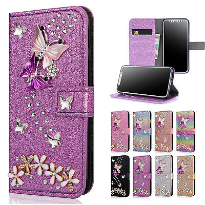 Bling Glitter Diamond Wallet Magnetic Flip Case Cover For iPhone 8 Plus 7 6s X