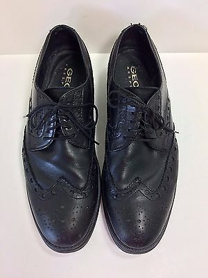 657249eb7 Dress Oxfords Leather Respira Mens Shoes 45 Black Geox Wingtip Size n6ASqgqY