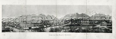 UTAH Ogden City View Panorama 1901 Antique Photogravure Print
