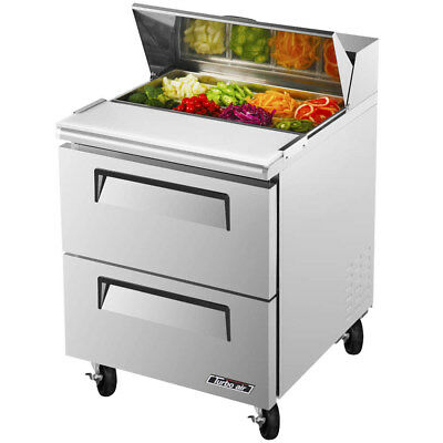Turbo Air TST-28SD-D2 27 1/2″ 2 Drawer Refrigerated Sandwich Prep Table
