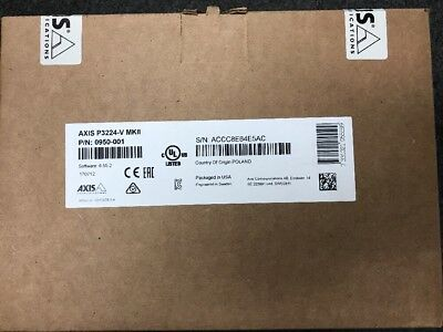 Axis Communication Inc 0950-001 P3224-V Mkii 720P Dome