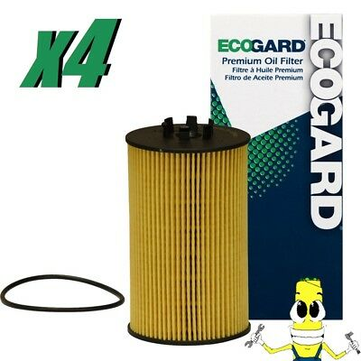 Premium Oil Filter for Mercedes Benz E63 AMG w/ 6.3L Engine 2007-2011 Pack of 4
