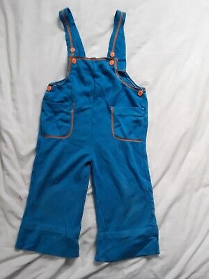 Vintage 70s Boys Girls Overalls Jumpsuit - Size 4T 100% Acrylic