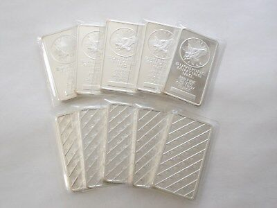 TEN 1 Troy oz. Silver Clad Layered in .999 Sunshine Mint Bar