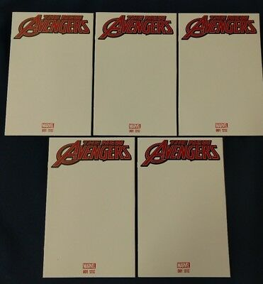 Marvel The New Avengers #1 * Blank Variant Sketch Cover * Lot of Five (5) NM