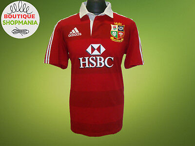 BRITISH & IRISH LIONS HOME 2013 Rugby Union (L) Adidas Cotton Rugby Shirt Mailot