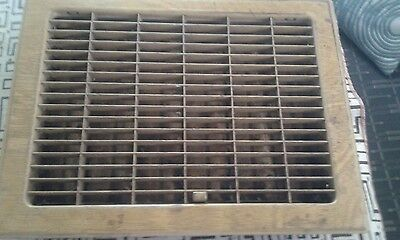 Vintage Stamped Steel Floor Heat Grate Register Vent  Hardware 14X11 12X8 openin
