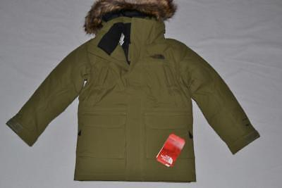 THE NORTH FACE BOYS McMURDO DOWN PARKA OLIVE GREEN SIZE XXS 2XS 5 BRAND NEW