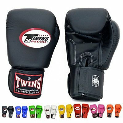 Twins Special thai boxing gloves 10oz Black Blue Navy