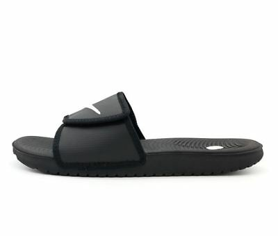 fb689961dd28 NIKE KAWA Adjust SLIDE Men s Sandal Black White 834818 001 fast shipping O