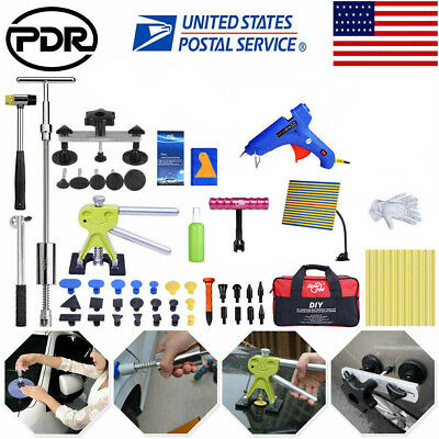 PDR Tools Dent Puller Lifter Slide Hammer Paintless Hail Repair Removal LED Kits