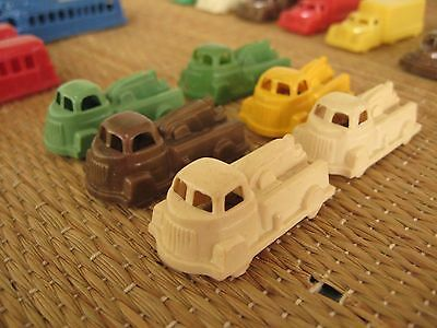VTG 50s Toy Molded Plastic Truck Street Car Bus Marx Hong-Kong 30 pcs