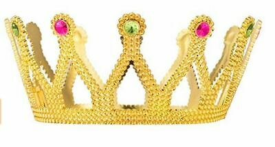 Gold Plastic King Crown Royal Costume Prince Accessory Adult/Kid