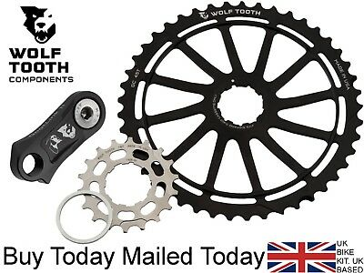 Wolf Tooth GC 45 T /& 18t Cog s /& Spacer Wide Range Shimano XT XTR 11-40 42 Kit