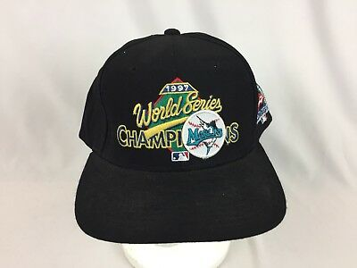 Vintage 1997 Florida Marlins World Series Champions Snapback New Era hat,cap,MLB