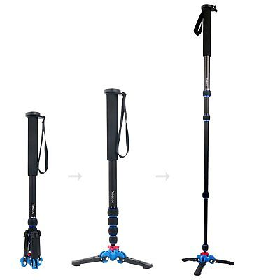 Pro 65-inch Camera Aluminium Monopod W/ Folding Three Feet Support Stand US Ship