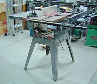 "Sears Craftsman 10"" Table Saw, Cast Iron Top, 1 Hp Motor, W/ Stand"