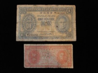 Hong Kong One Dollar and 10 Cents Banknote #ADL6
