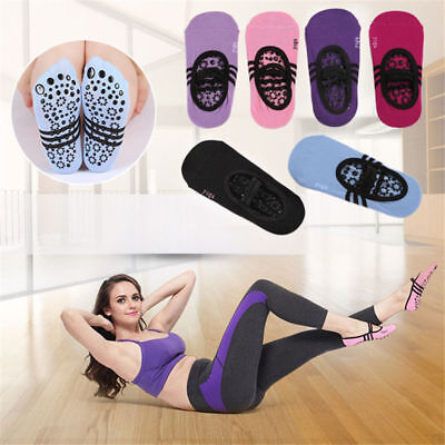 1 Pair Yoga Fitness Socks Non Slip Pilates Massage Ballet Socks Exercise Gym UK