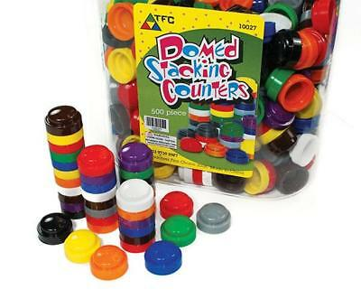 20mm Domed Stacking Counters 500 PET Jar Maths Teacher Resource Aid