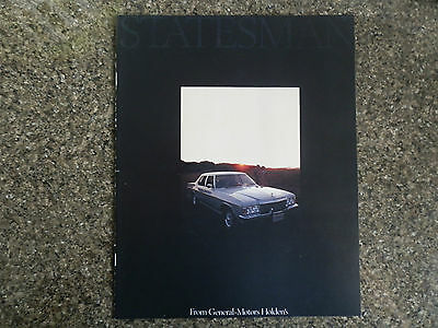 1977 Holden Hz Statesman Deville And Caprice Sales Brochure  100% Guarantee