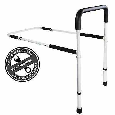 Medical Adjustable Home Bed Rail Handle & Hand Guard Assist Bar for Adults and